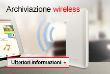 Archiviazione wireless